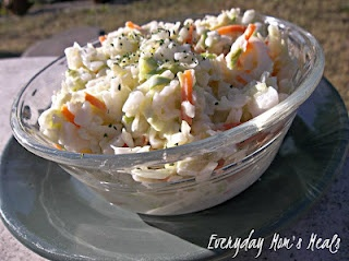 ~Copy Cat KFC Coleslaw~ Creamy, tangy, and absolutely delicious, this side dish is so close to the original, your guests will never know!