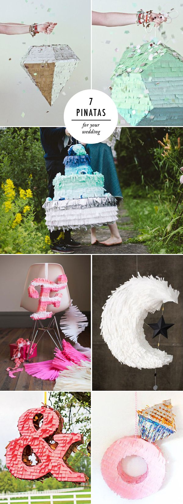 7-wedding-pinatas from brooklyn bride. I love the ring one!