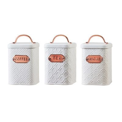 Love these for coffee and tea! Laurel Foundry Modern Farmhouse 60 oz. Metal Coffee Canister