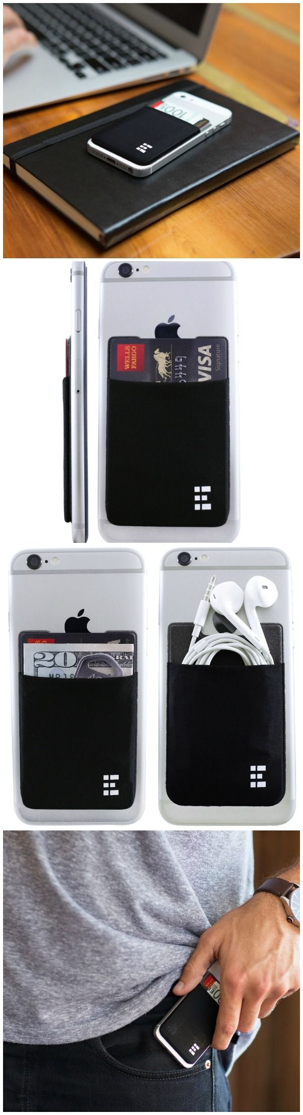 The Zero Grid Cell Phone Wallet securely stores cards, cash, I.D. and other accessories. Works as a RFID wallet case, cell phone pouch, or card holder.