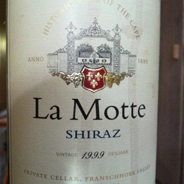 La Motte Shiraz 1999, enjoyed 13 years later