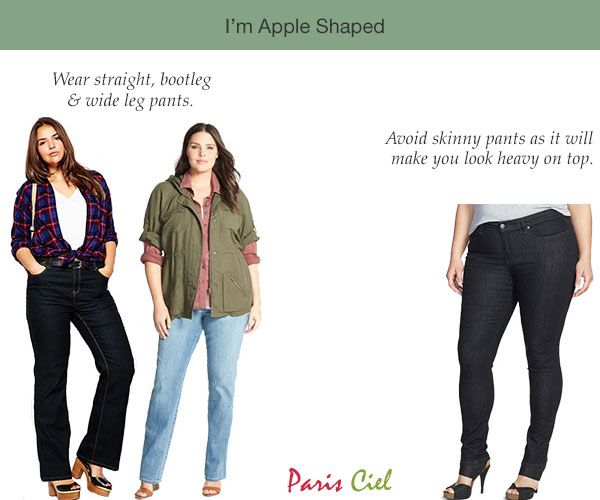 Apples--avoid skinny jeans/leggings because they make your ...