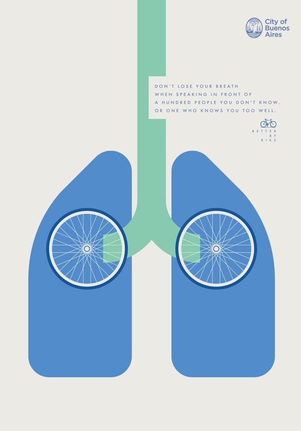 Una colorida campaña gráfica para mostrar los beneficios de usar la bicicleta