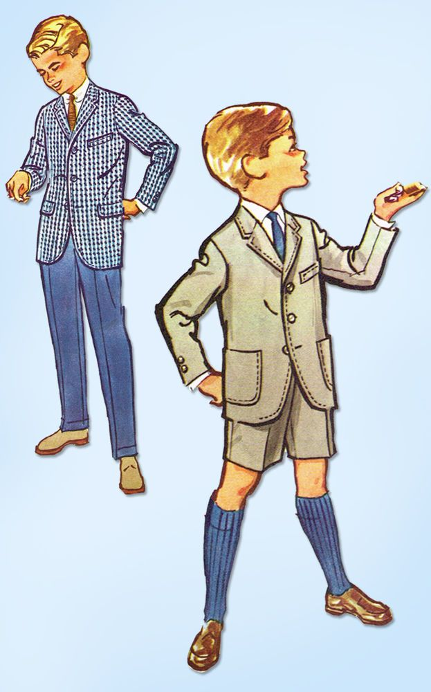 1950s Vintage McCall's Sewing Pattern 4814 Uncut Toddler Boys Suit Size 6  | eBay