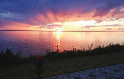 Sunset in Småland, Sweden. http://www.bighousesscandinavia.com/smaaland.html