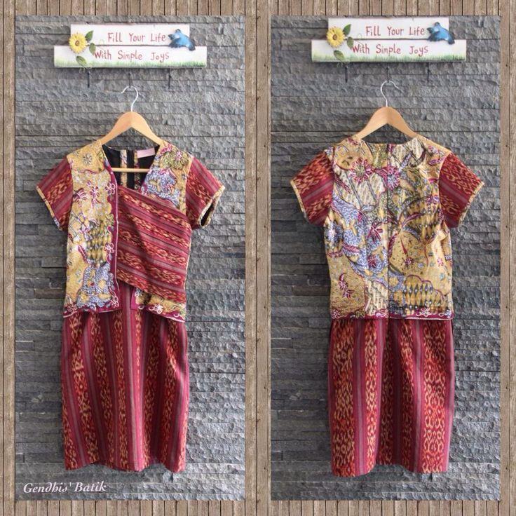 Batik Tulis lawas Pekalongan + Tenun Jepara halus + Lining Tricot, by Gendhis' Batik Cute!!