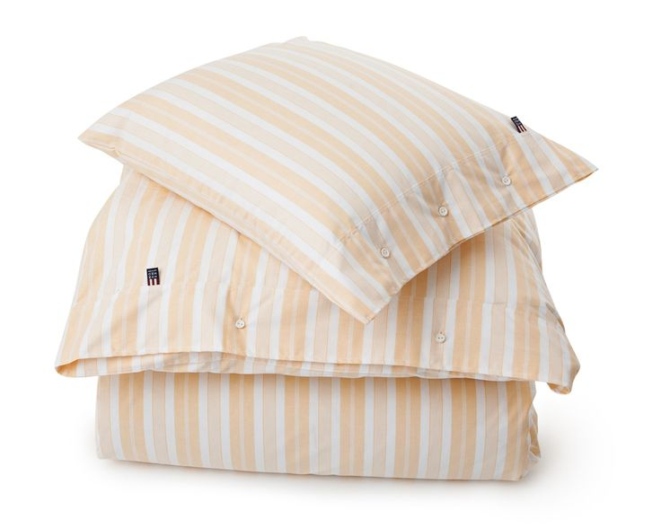 Lexington Pin Point Stripe Bedding yellow Spring2016