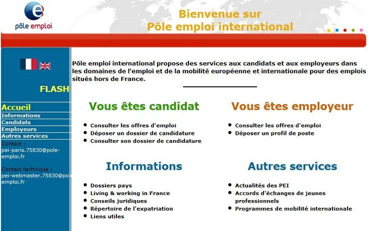 Pole Emploi INTERNATIONAL : Suisses, Canada, Espagne, Qebec...