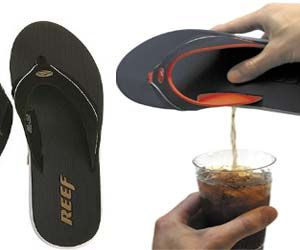 Stay liquored up wherever you go with these flask sandals that let you store alcohol by your feet. Now you can keep booze on you while at the beach or pool. These flask sandals hold only 1.5 ounces of liquid, so make sure you only pack the strong stuff! Buy It $45.00 via Amazon.com