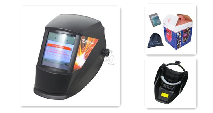 black  big size Auto darkening welding helmet DIGISIX electric welding mask/helmet/welder cap/lens for welding EH-900EF10067I