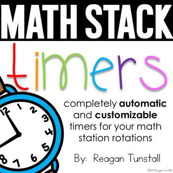 These Guided Math Rotations with Timers are editable and include a ton of different math center rotation timers- what a great idea to keep students and teacher on track in the classroom during math stations!