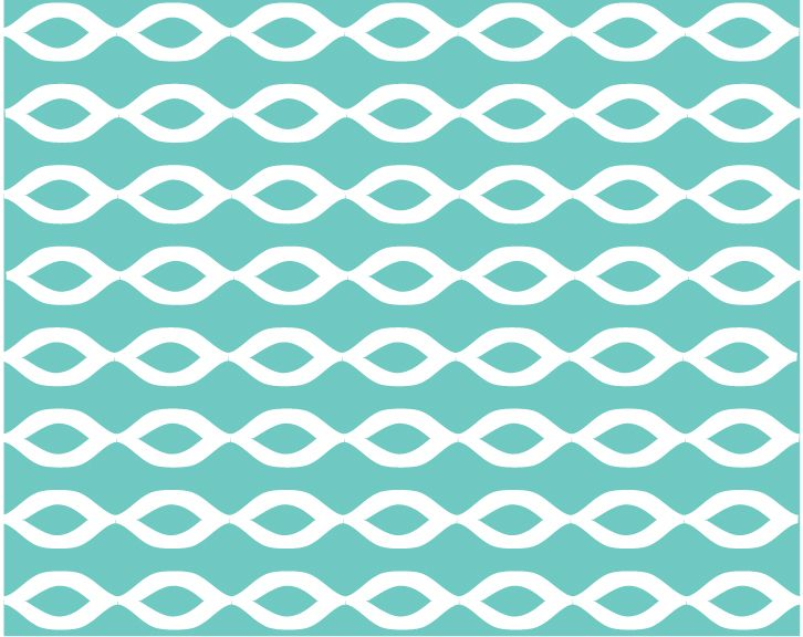 Loops - Turquoise and White