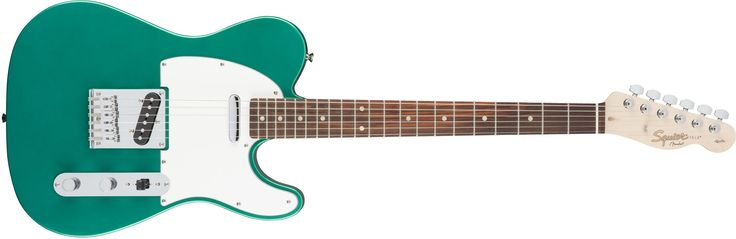 "Squier by Fender Affinity Telecaster Beginner Electric Guitar - Rosewood Fingerboard, Race Green. Squier's Affinity Series provides the best value in instrument design available today, and is the perfect choice for the aspiring musician. Two Single-Coil Telecaster pickups envoke the iconic tone of the original solid-body electric guitar. The Top-load Telecaster bridge makes changing strings a breeze & provides optimal tuning stability. The modern ""C"" shaped neck provides universal comfort..."