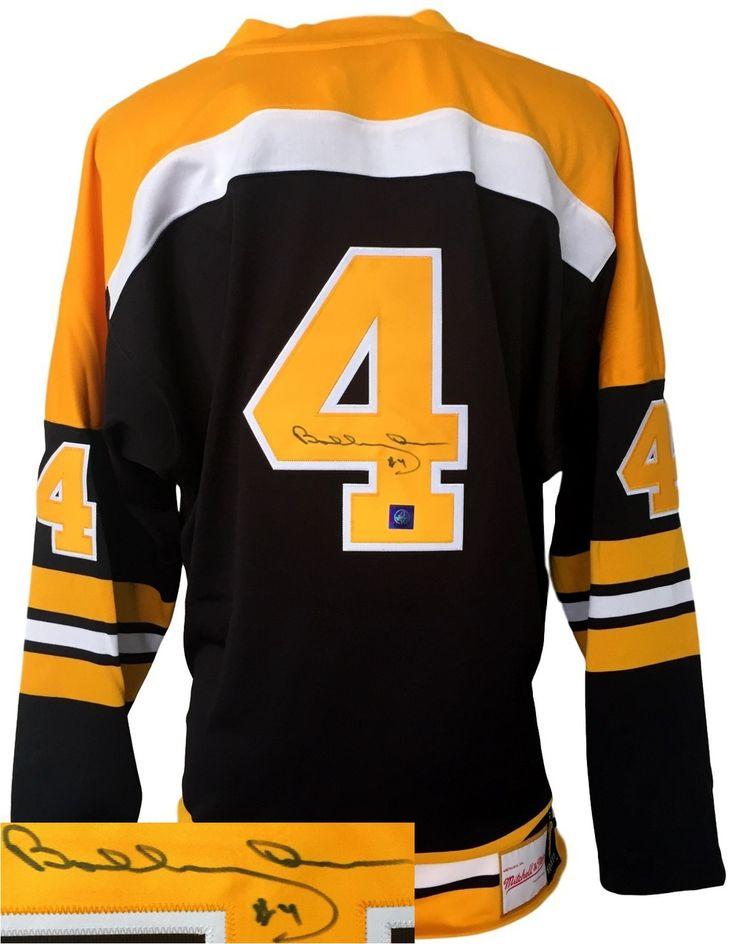 Bobby Orr Signed Boston Bruins Black Mitchell & Ness NHL Hockey Jersey GNR - Sports Integrity