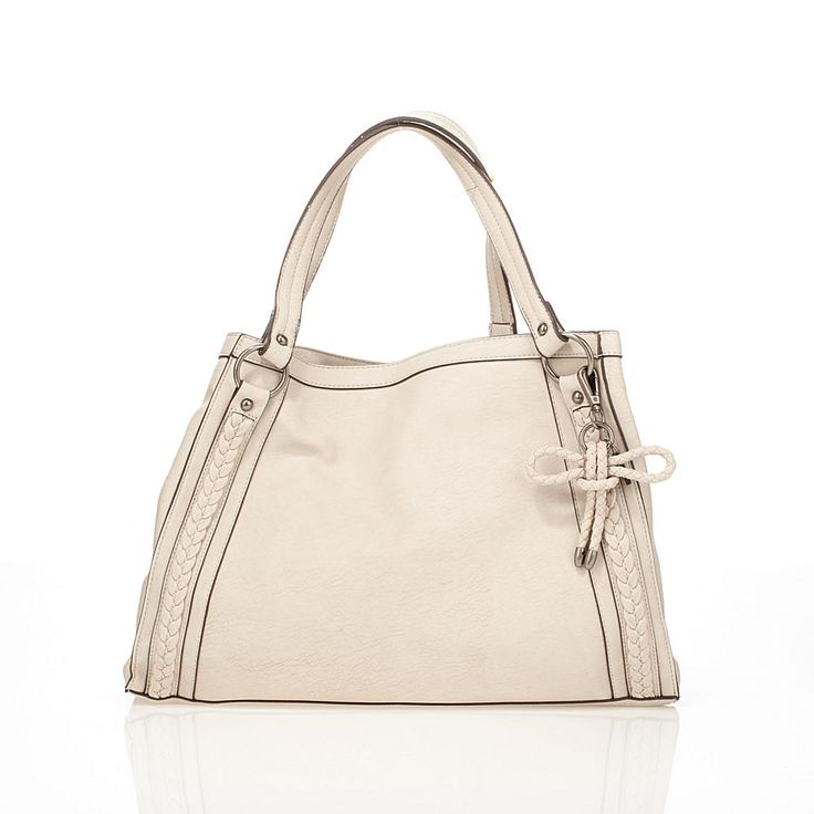 Jessica Simpson Elina Tote with Braided Trim - Tan