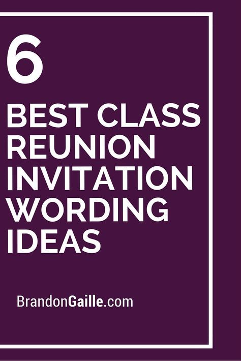 25 best ideas about Class Reunion Invitations – Reunion Invitation Wording