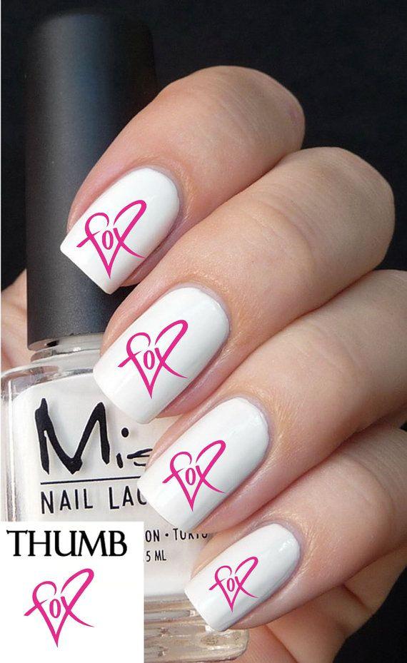 Pink fox heart racing Nail Decals nail decal nail by DesignerNails, $3.95