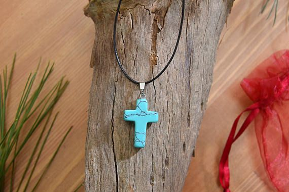 Check out this item in my Etsy shop https://www.etsy.com/listing/513140352/turquoise-cross-string-necklace-womens