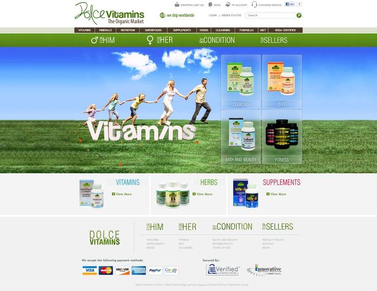 Dolce Vitamins - E-commerce Web Design