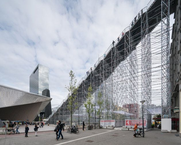 Rotterdam's Incredible Scaffold Staircase Is Unlike Anything We've Ever Seen | The Huffington Post