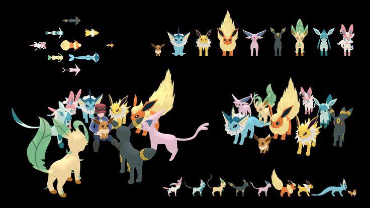 Size comparison through evolutions eevee galleries - Evolution pokemon noir 2 ...