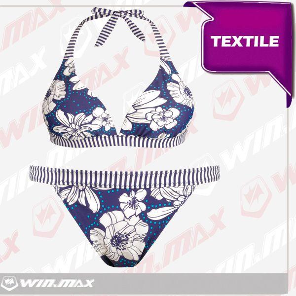 Winmax бесплатная доставка две штуки сексуальные  сухой и увеличения груди синий / зеленый цветочный принт дизайнер купальники бикини