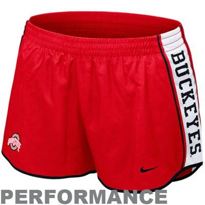 Nike Ohio State Buckeyes Womens Pacer Performance Shorts - Scarlet