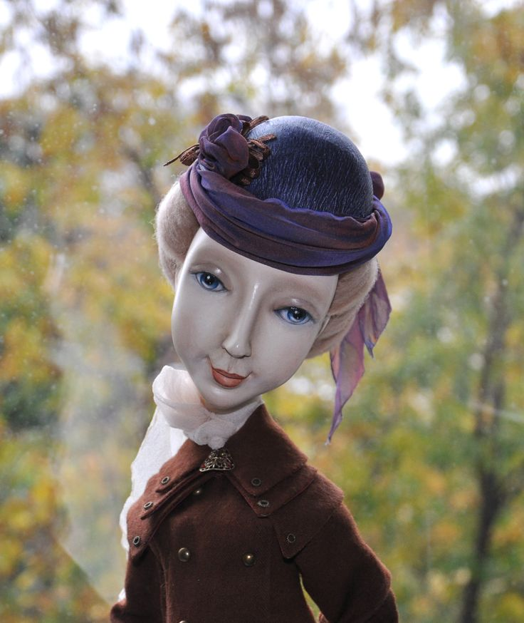 "Кукла ""Курсистка"" (паперклей, 53 см) The doll ""girl students"" (Paperkly, 53 cm) dolls by Zoya Brilliantova"