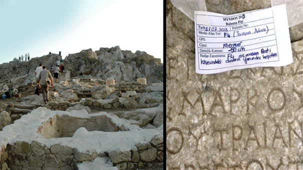 2 bin 500 yıllık sır çözüldü! Muğla'nın Bodrum ilçesine bağlı Gümüşlük beldesindeki Tavşan Adasında ortaya çıkan yazıtlarda, adanın asırlar öncesinde Myndos kenti olduğu ortaya çıktı.