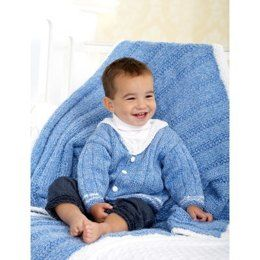 Middy Jacket and Blanket in Bernat Baby Coordinates Solids