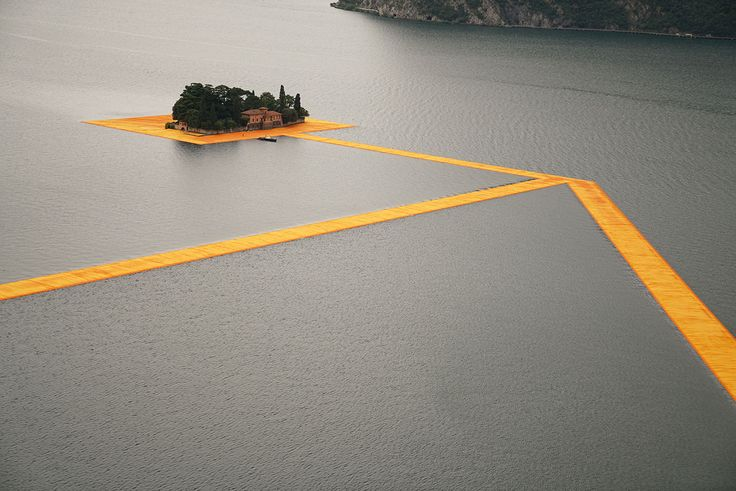 the floating piers // christo and jean-claude