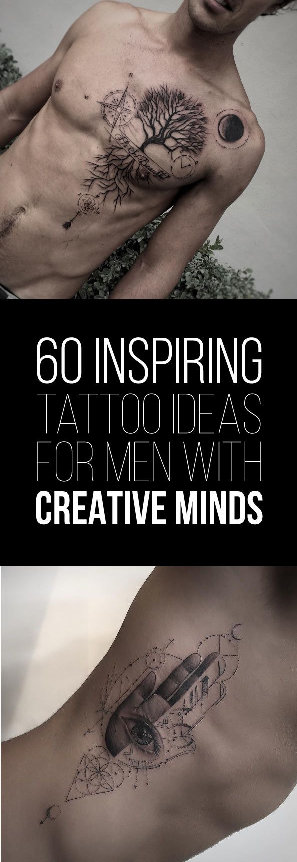 60 Inspiring Tattoo Ideas for Men with Creative Minds | TattooBlend