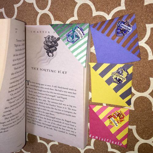 Harry Potter corner bookmarks! ✿ ✿