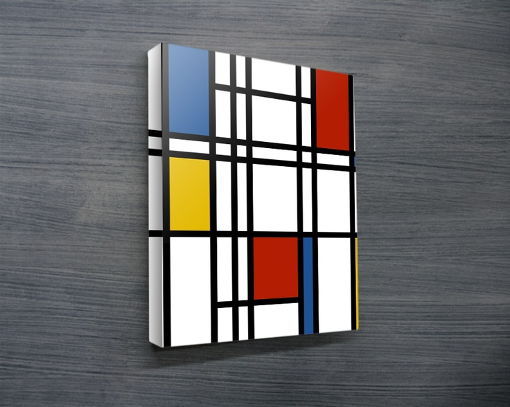 Mondrian Canvas Art Modern Prints Photo Printing