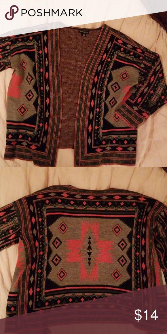 Aztec print cardigan Oversized cardigan with Aztec inspired print Metaphor Sweaters Cardigans