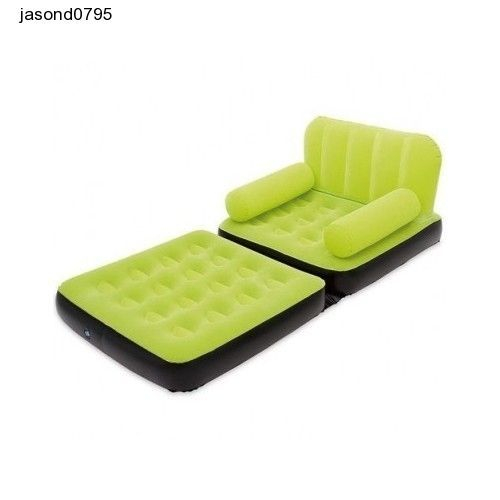 Inflatable Sofa Soft Couch Air Bed Camping Equipment Games Room Furniture