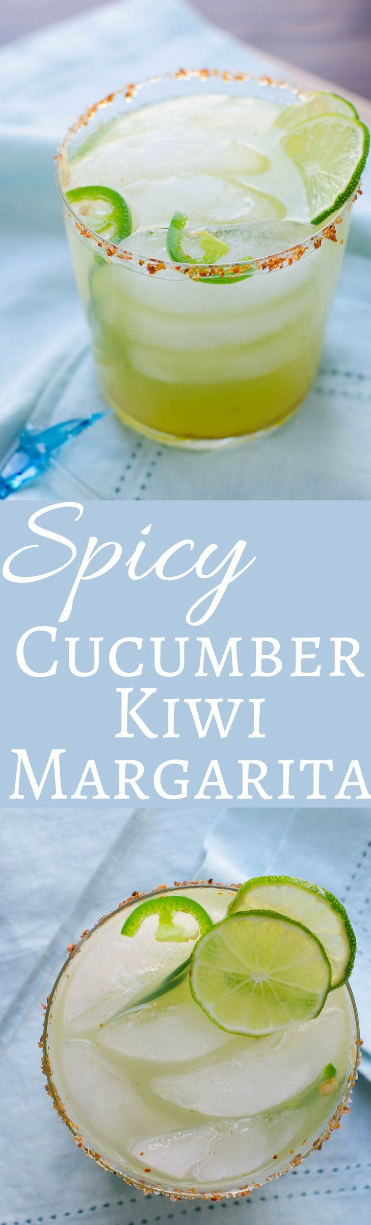 Love margaritas? This easy recipe uses cucumbers, kiwis and jalapenos for a deliciously different cocktail!