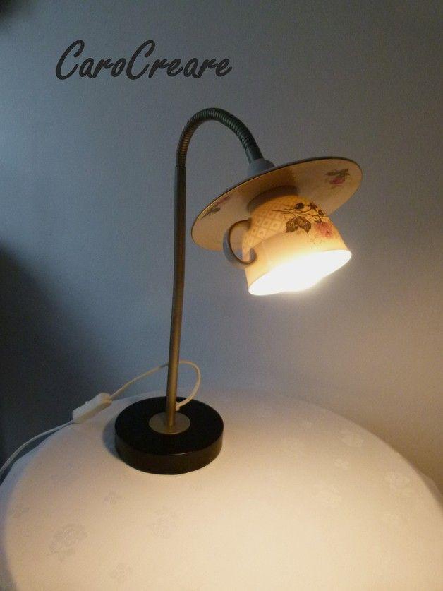 Tischlampen - Lampe aus wunderschönem alten Porzellan - ein Designerstück von CaroCreare bei DaWanda