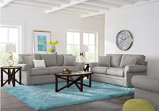 picture of Cindy Crawford Home Bellingham Gray 7 Pc Living Room from Living Room Sets Furniture