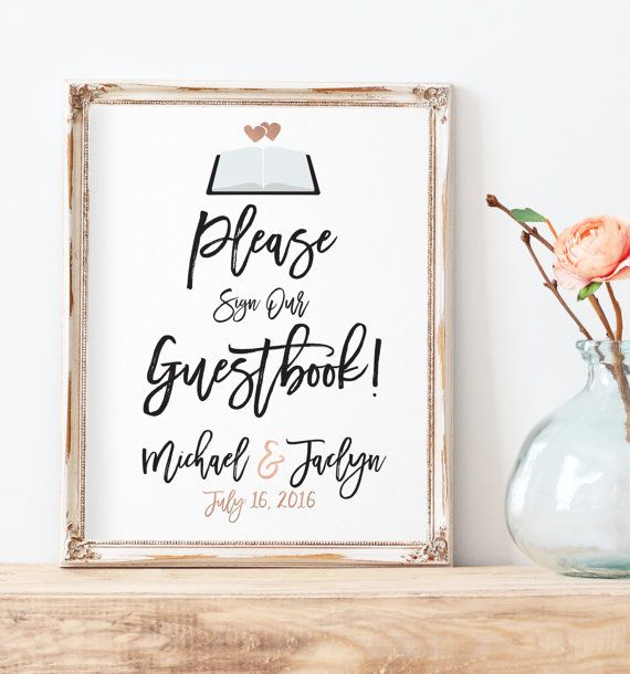 Please Sign Our Guest Book Guest Book Sign by MissDesignBerryInc