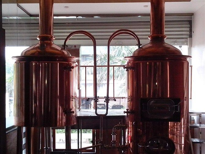 2013 widely used hotel beer fermenters/red copper tank used brewery equipment for sale $18170~$501540