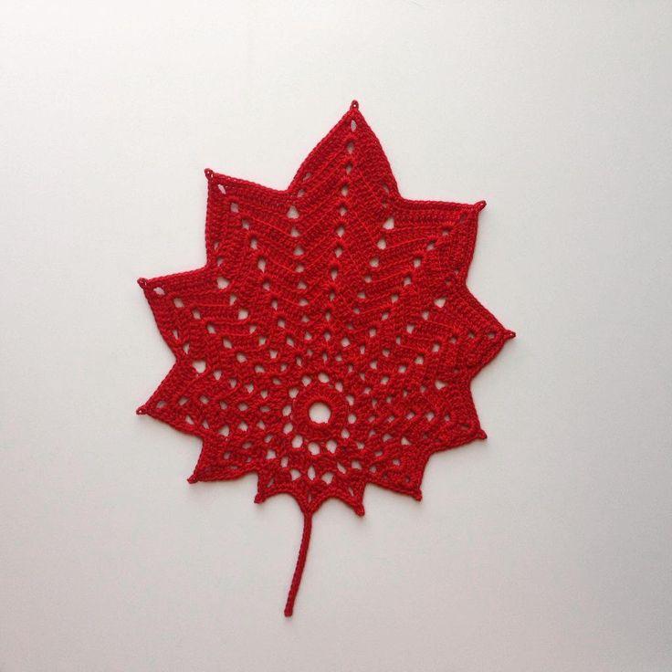 121 Best Crochet Leaves Images On Pinterest Crochet Leaves