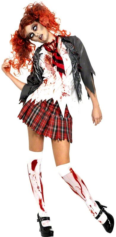 Déguisement écolière zombie : rendez vos profs fous pour le 31 octobre !