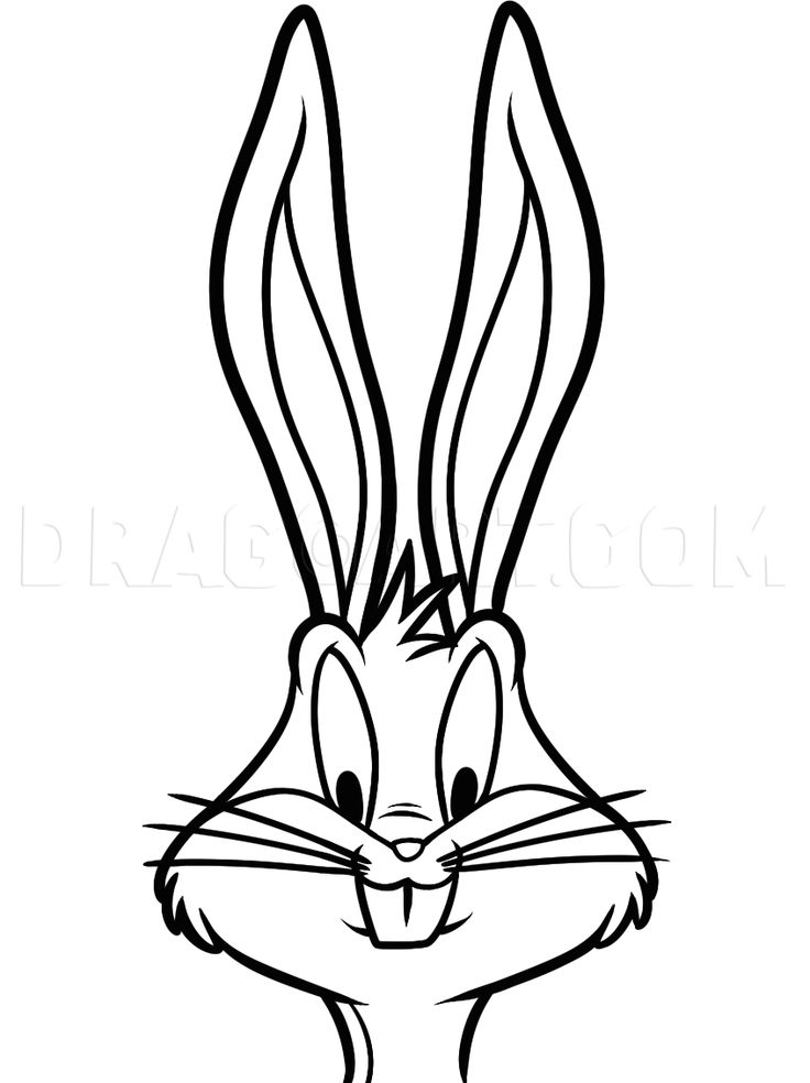 How To Draw Bugs Bunny Easy, Step by Step, Drawing Guide