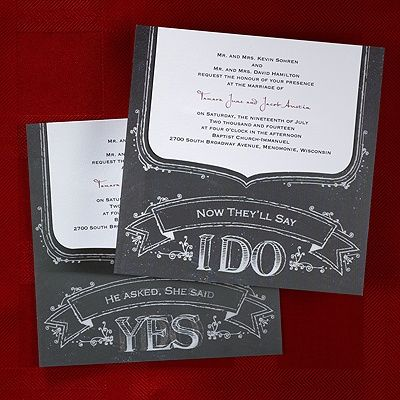 Rustic Statement Invitation Ideas For Your Country Theme Wedding A Is Shown On This Black And White Holographic Card