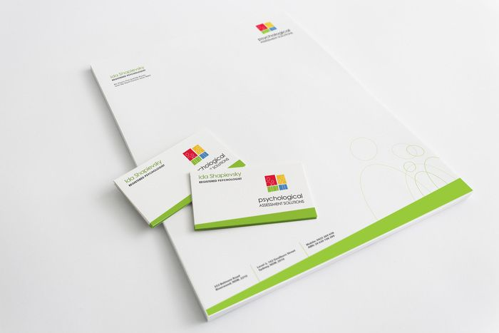 Psychologist stationery design. www.wellsites.com.au