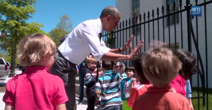 """You know what? Let's get a little rowdy here. I want a high-five from everybody."" http://ofa.bo/j4uc"