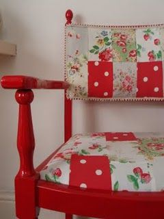 Cath Kidston Patchwork chair by Bibbity-bob.  This chair 'speaks' to me and I swear it said that it wants to come and live with me in The (little) Gingerbread House.  {winks}  :o)