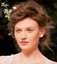 runway contemporary gibson girl hair