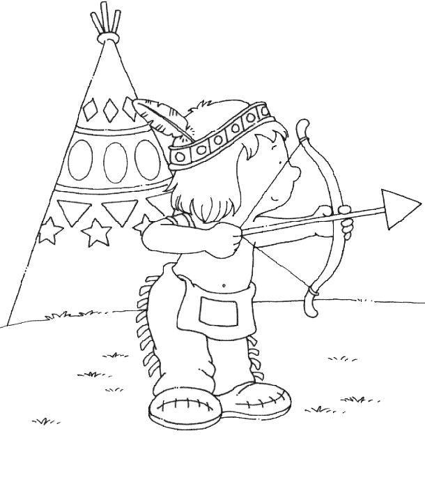 peter pan indian princess coloring pages | 155 best images about Thema Indianen on Pinterest ...